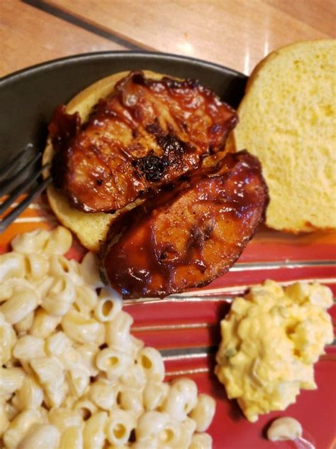 Transfer the marinade to a small saucepan, bring to a boil over high heat and boil to reduce slightly, about 5 minutes. Smoked pork loin and frontier style #bbqsauce #bbqbyRee # ...