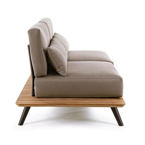canapé teck oka canapé de jardin en aluminium et bois de teck