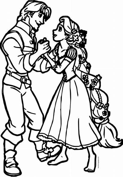 Rapunzel Coloring Flynn Together