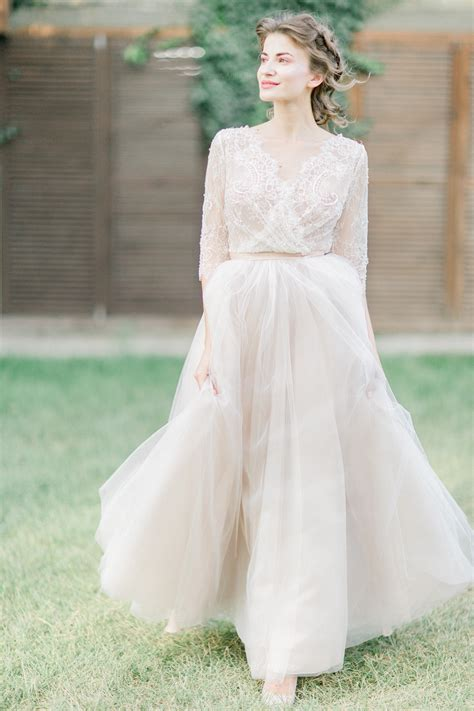 chagne wedding dress lindy anna skoblikova
