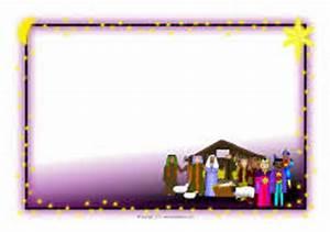 Christmas A4 landscape page borders 2 (SB6310) - SparkleBox
