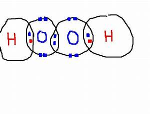 Dot And Cross Diagram Of H2o2