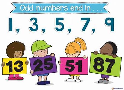 Even Clipart Odd Number Posters Teaching Resources