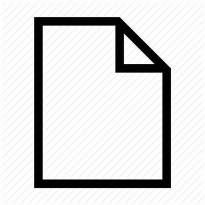 Document Blank Icon Paper Sheets Computer Sheet