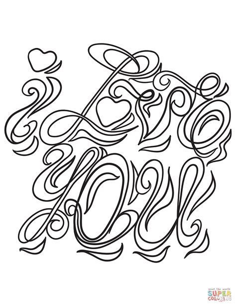 love  coloring page  printable coloring pages