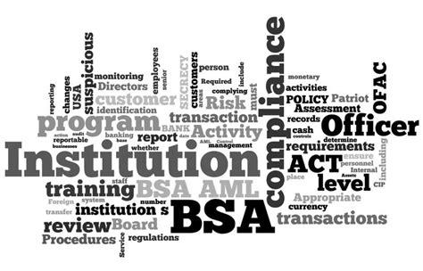 wixcom bank secrecy act management acting