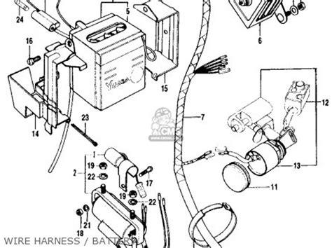 honda ct90 trail 90 k2 1970 usa parts list partsmanual partsfiche