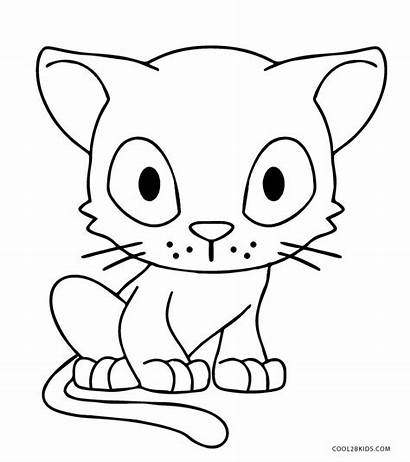 Cat Coloring Cats Pages Anime Printable Colouring