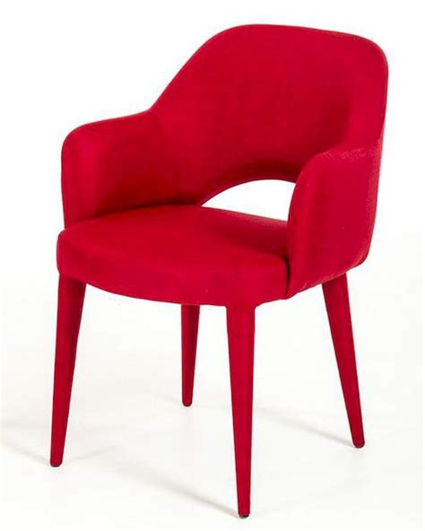 modern red fabric dining chair dch