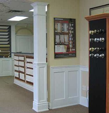 Wainscoting Square Panels by Square Paneled And Fluted Coloumns That Match Our
