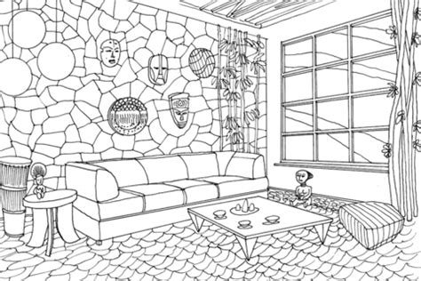 living room  hawaii coloring page  printable coloring pages  kids