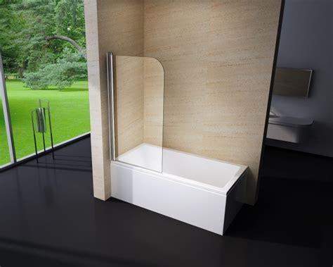 Duschabtrennung Duschwand Badewanne Nano Echtglas Ex201