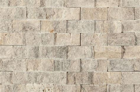 stacked travertine builddirect travertine mosaic tile stacked stone brick series silver close view ideas
