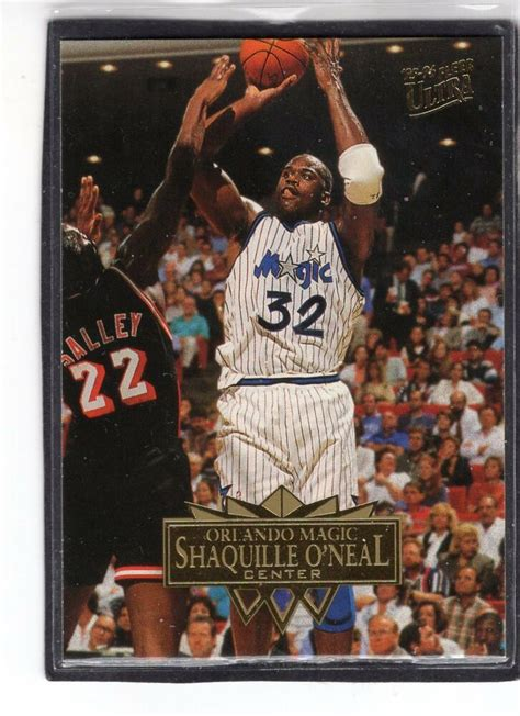 shaquille oneal fleer ultra basketball card