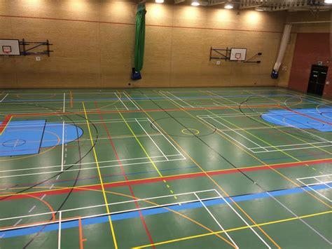 marking   basketball court sports flooring
