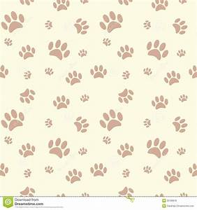 Background With Dog Paw Print And Bone Royalty Free Stock ...