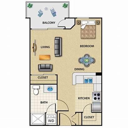 Apartment Studio Floor Plans Plan Apartments Angeles