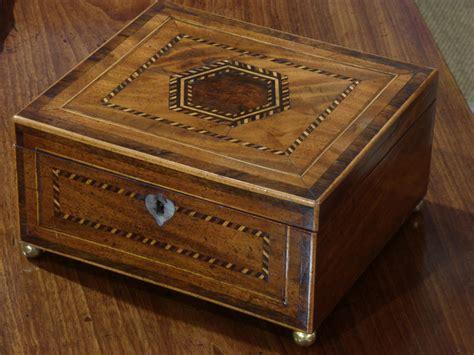 georgian inlaid box sewing box antique jewelry box