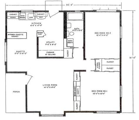lustron_floor_plan - Bluff View House