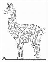 Coloring Adult Animals Pages Animal Easy Adults Llama Teens Printables Activities sketch template