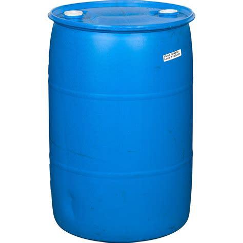 gallon blue tight head plastic drum reconditioned