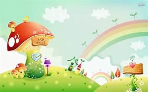 Rainbow Cute Kids Wallpaper Hd Background Screensavers ...