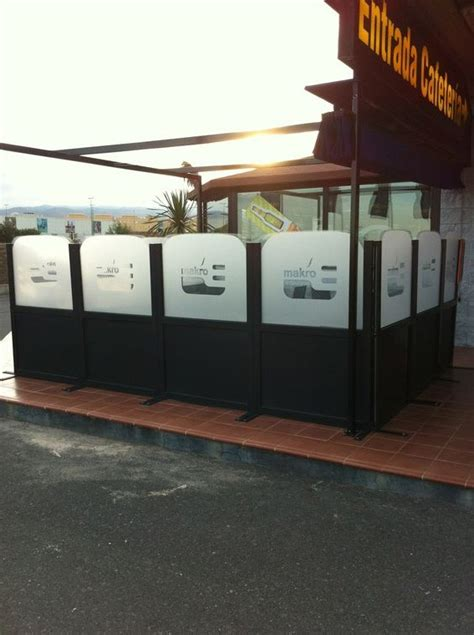 paravent pour terrasse de restaurant aluminium pis 301 ma