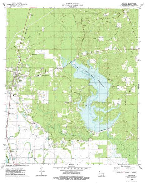 Benton Topographic Map La Usgs Topo Quad 32093f6
