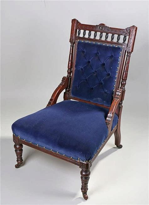 Victorian Nursing Chair, The Carved Top Rail Above A Finial