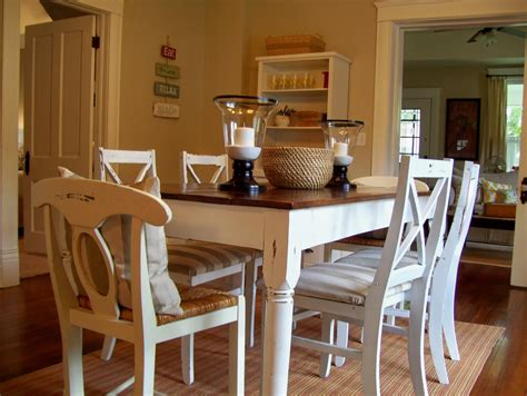Decorating Ideas Kitchen Tables by Modern Rustic Kitchen Tables With White Painting
