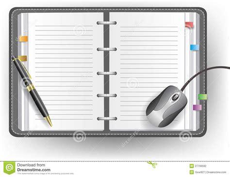 agenda de bureau synonyme agenda de bureau avec la ligne le stylo bille et la