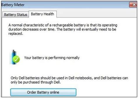 Boat Battery Health by Checking Battery Health Status On Dell Laptops And