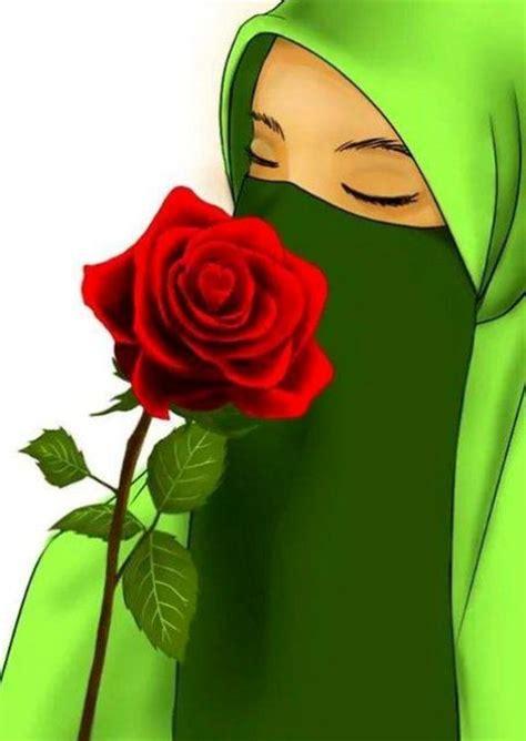 anime hijab cadar kumpulan gambar kartun muslimah sedih terbaru
