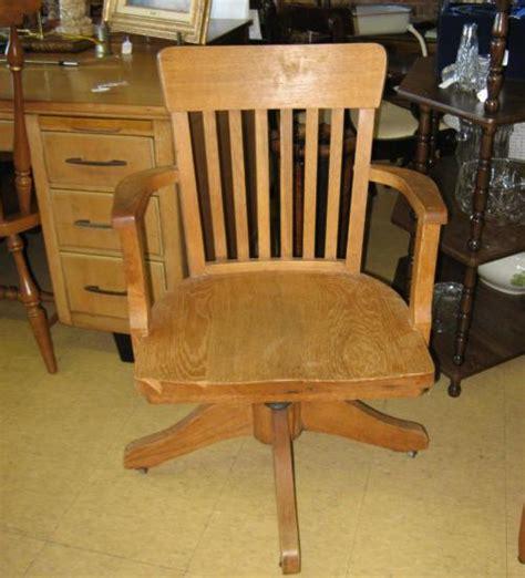 antique oak office desk chair swivel wood ebay