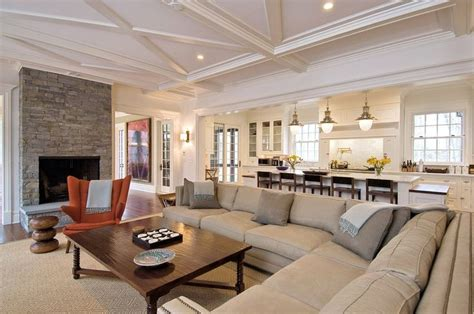 Surprisingly Open Concept Living Room by Neutral Family Room Family Room Family