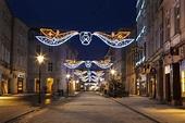 Night Krakow In Poland, Florian's Street Editorial Stock ...