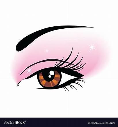 Makeup Eye Vector Clip Royalty Vectors Vectorstock