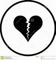 Broken heart vector symbol stock vector. Illustration of ...