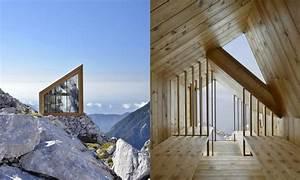 Exceptional prefab Alpine Shelter Skuta overlooks mind ...