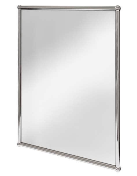 Bathroom Mirrors Chrome by Burlington Rectangular Mirror With Chrome Frame A11 Chr