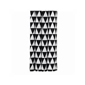 Rideau De Noir Et rideau de douche ferm living motif triangle noir et blanc