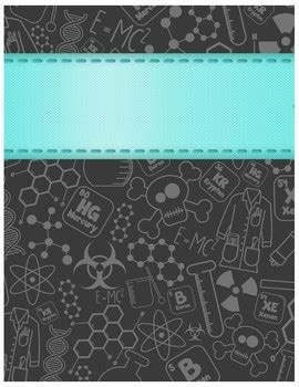ediable science themed plannerbinder covers  dash