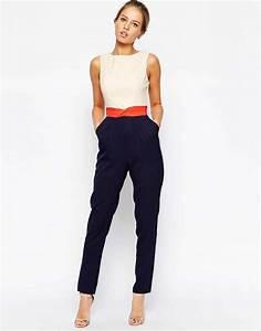 Combinaison Pantalon Femme Bleu Marine : la combinaison la pi ce qui rend chic en un instant x haute couture x pinterest ~ Dallasstarsshop.com Idées de Décoration