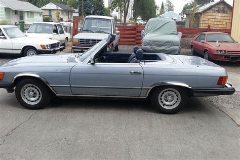 The hard top (with storage rack) is included. 1984 MERCEDES-BENZ 380SL CONVERTIBLE198916