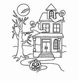 Haunted Coloring Pages Printable Dollhouse Halloween Colouring Bestcoloringpagesforkids Drawing Getdrawings Christmas Example Draw Entitlementtrap Disney sketch template