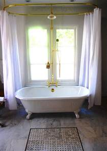 shower curtain rod for clawfoot bathtub decor ideasdecor
