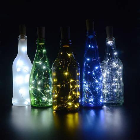 wine bottle led lights cork lights for wine bottles 6 pack bizoerade 30inch