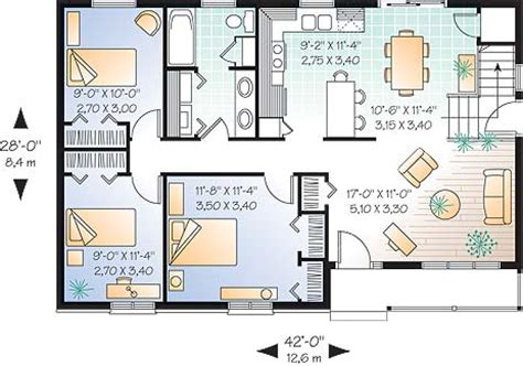 side split house plans cottage house plan