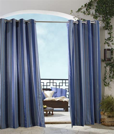 Gazebo Indoor Outdoor Stripe Grommet Curtain Panel