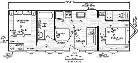 grayson floor plan this park model has 2 bedrooms 2